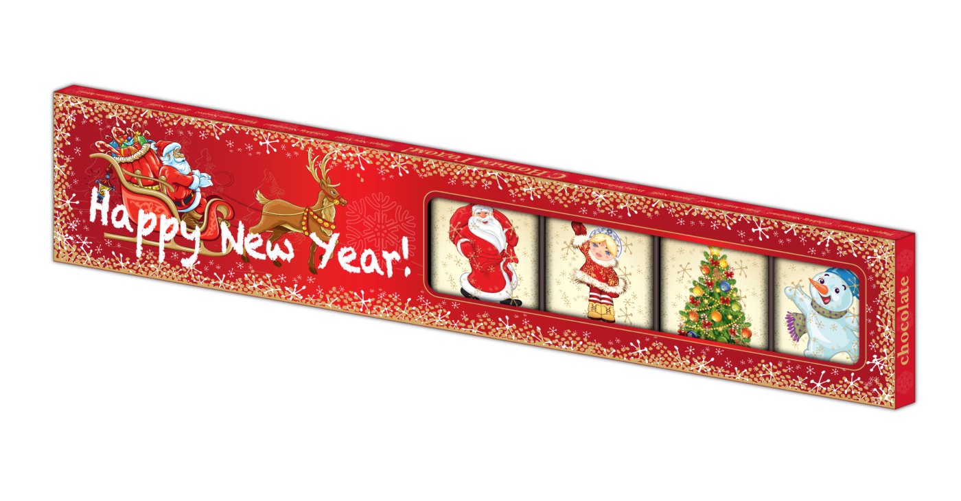Шоколадный подарок 10г х 7шт с Новым Годом