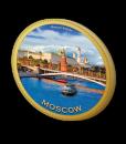Шоколадная медаль с символикой Москвы