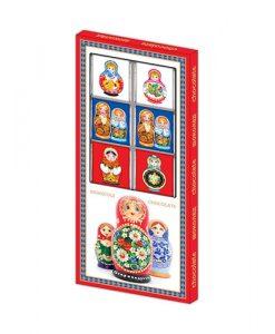 Шоколадные матрешки - сувениры из России