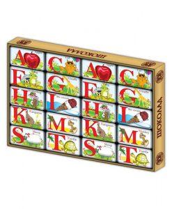 Шоколадные буквы алфавита фабрики шоколада Дилан+ очень понравятся вашим детям