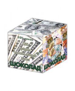 Шоколадный кубик Деньги понравится любому работнику банка