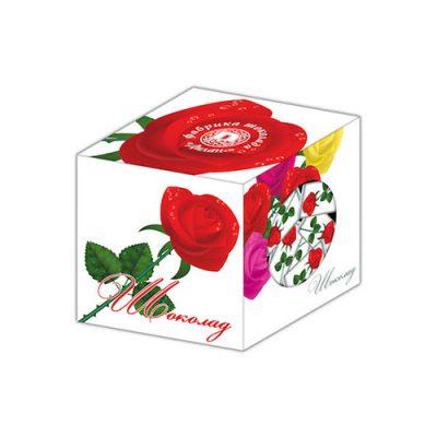 Шоколадный кубик Розы послужит отличным подарком любимым дамам на 8 марта