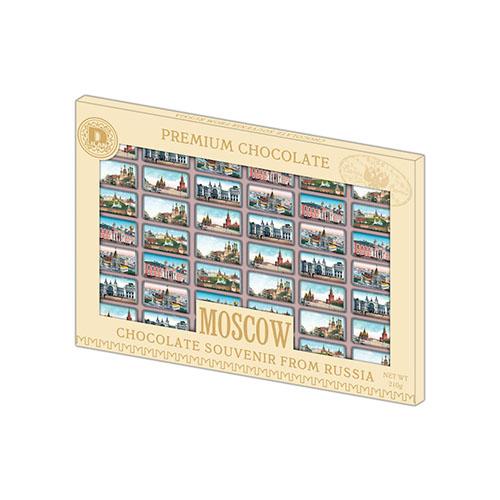 Сувенир с видами Москвы шоколад