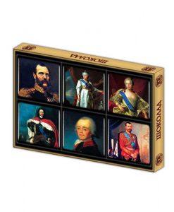 Шоколадные императоры в подарочной коробке 10г х 6шт отлично подойдут для туристов нашей родины