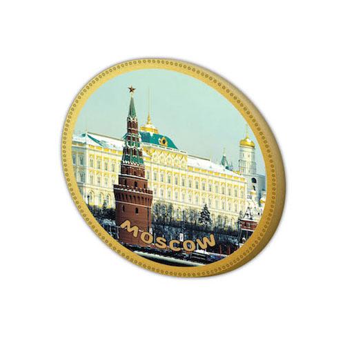 Шоколадная медаль с символикой Москвы Дилан+