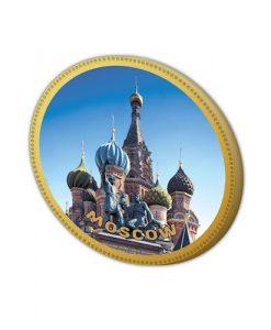 Шоколадная медалька Храм Василия Блаженного