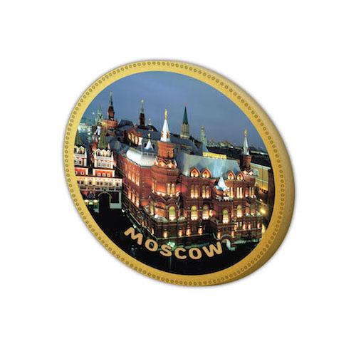 Шоколадная медаль с видом Москвы