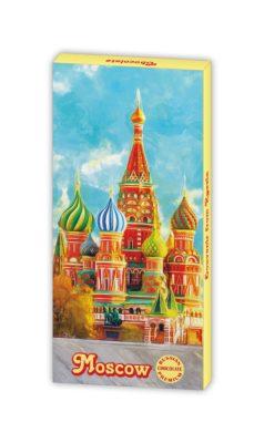 Шоколадная Москва 5г х 12шт, сувенир с символикой Москвы от шоколадной фабрики Глобус-про