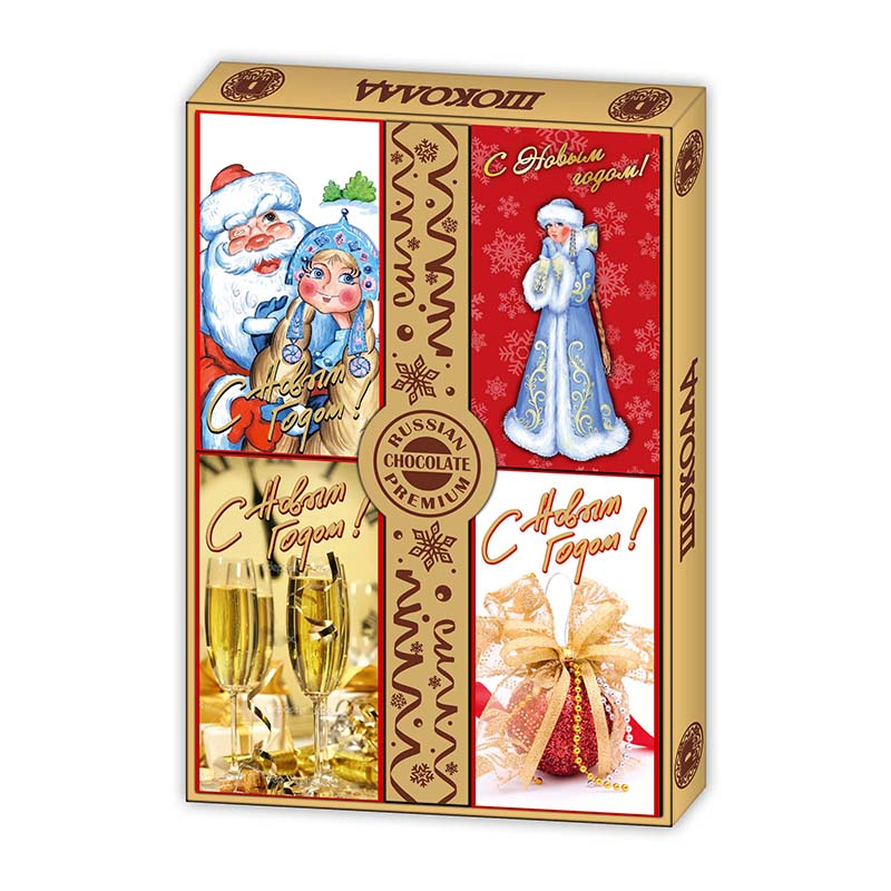 Шоколадный новогодний подарок 15г х 4шт sweetfactory.ru